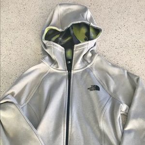Small North Face Jacket Silver